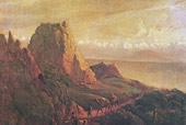 Окрестности селения Караагач (Кавказский вид с верблюдами). 1837—38 г.