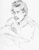 Портрет офицера в шинели. 1832—34 г.
