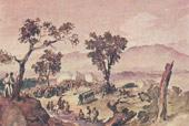 При Валерике. Похороны убитых. 1840 г.)